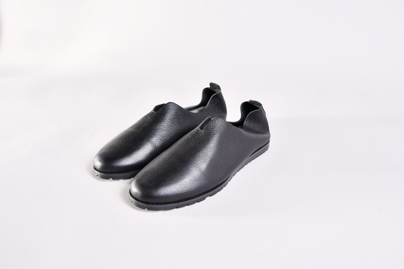 Flat leather shoes - ALMA black