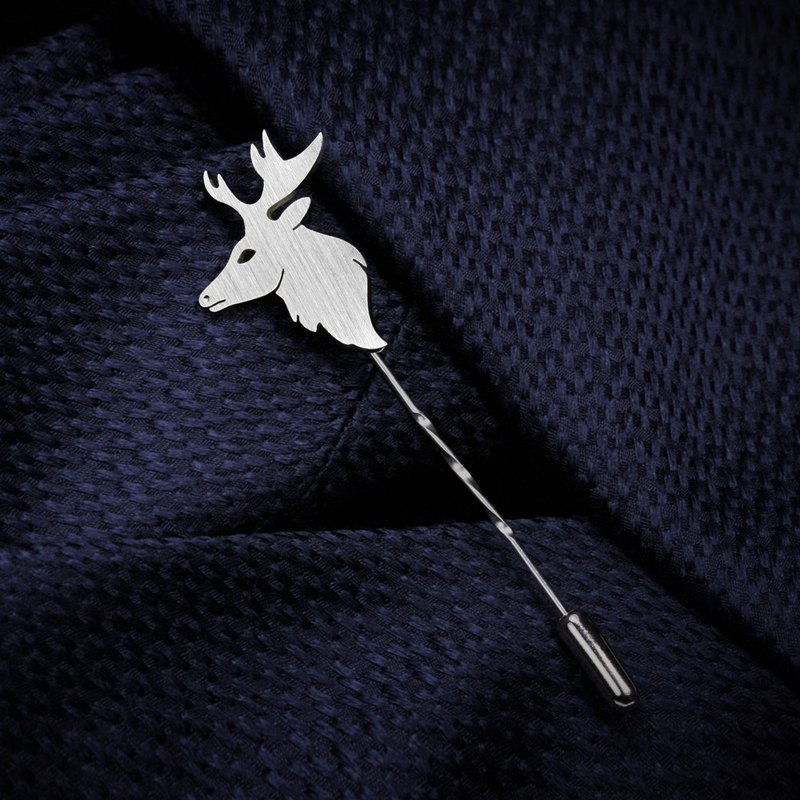 Deer Lapel Pin - Wedding Lapel Pin - 925 Silver Lapel Pin - Custom Lapel Pin