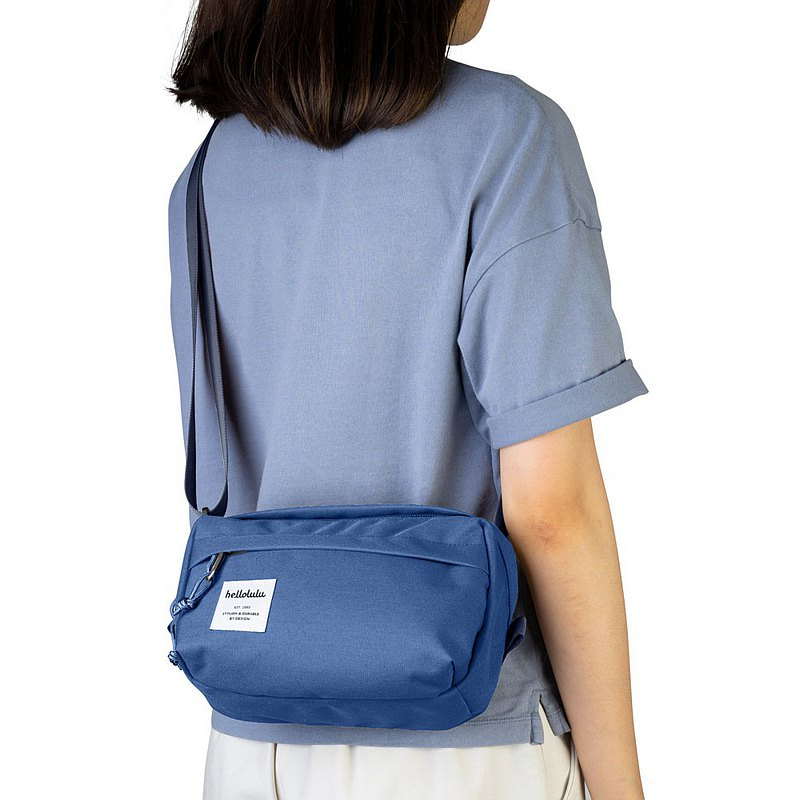 hellolulu HOLLIS Simple Out Side Backpack-Smokey Blue
