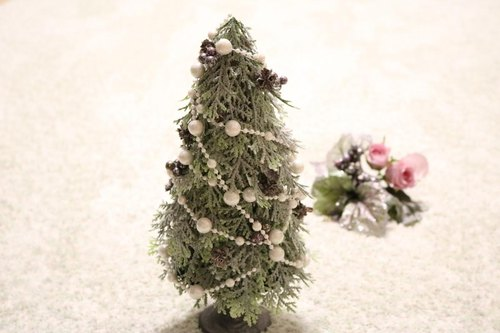 A little mature ♪ Christmas tree with silver green