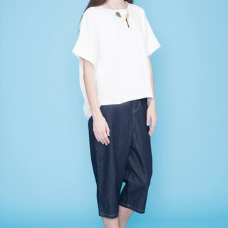 HANA Cropped Jeans Wide Pants