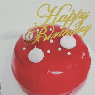 GJ private snack raspberry mirror cake cake preferred handmade 6吋