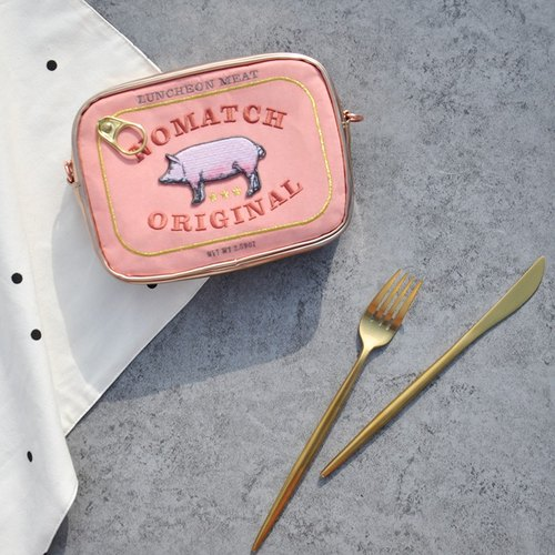 NoMatch design lunch lunch meat pork bacon canned fun fashionable dual-use hand bag small bag