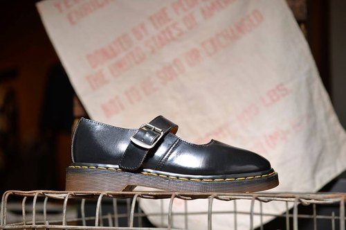 Vintage UK Dr. Martens black doll shoes
