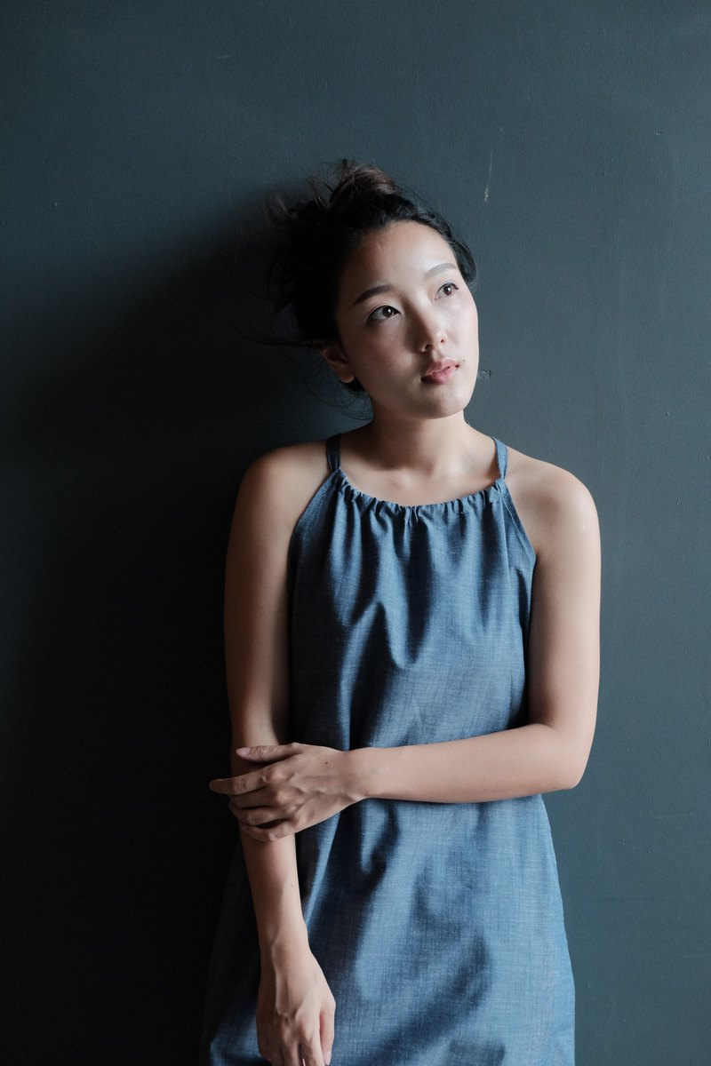 KRATORN DRESS - Chambray blue