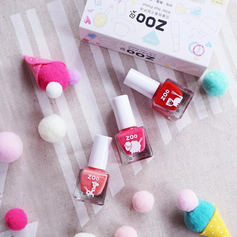 ZOO ㄖ ㄨ ˋ Children's Disposable Nail Polish Children's Day Limited | Cherry Honey Three Piece Set