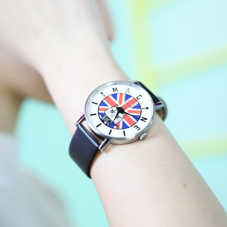Sing Sing Rabbit x MOZVA Classic Leather Strap watch - Black