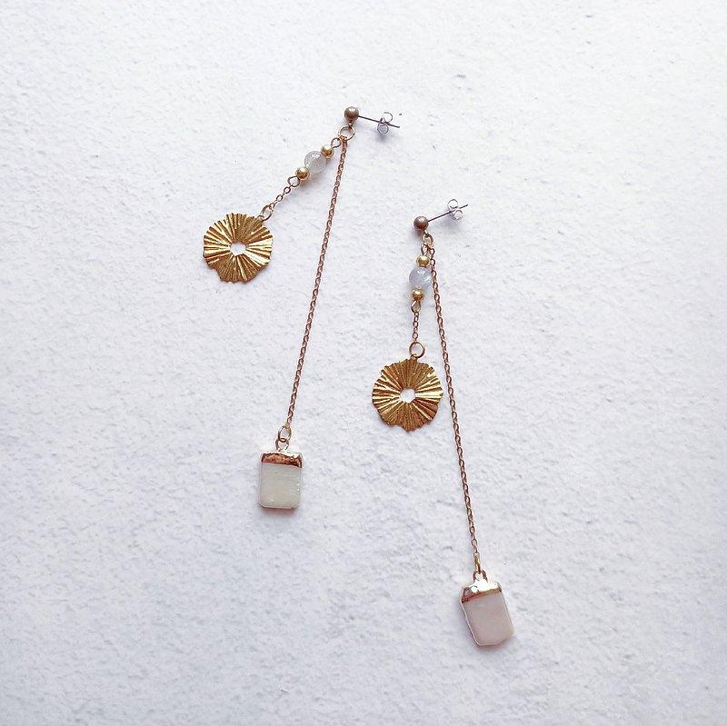 京都的雨/耳環/耳夾/淡水珍珠/耳針/黃銅