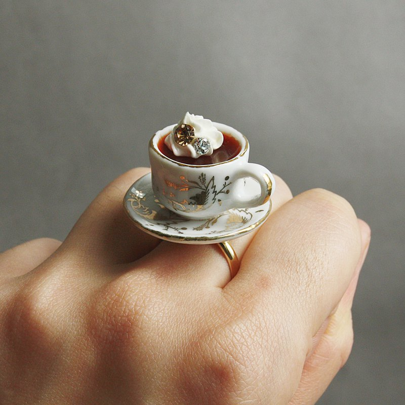Gift Institute gorgeous afternoon tea series retro viennese coffee ring