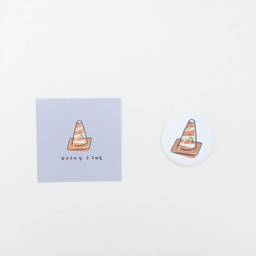 ☹ Doing FINE triangular cone / magnet