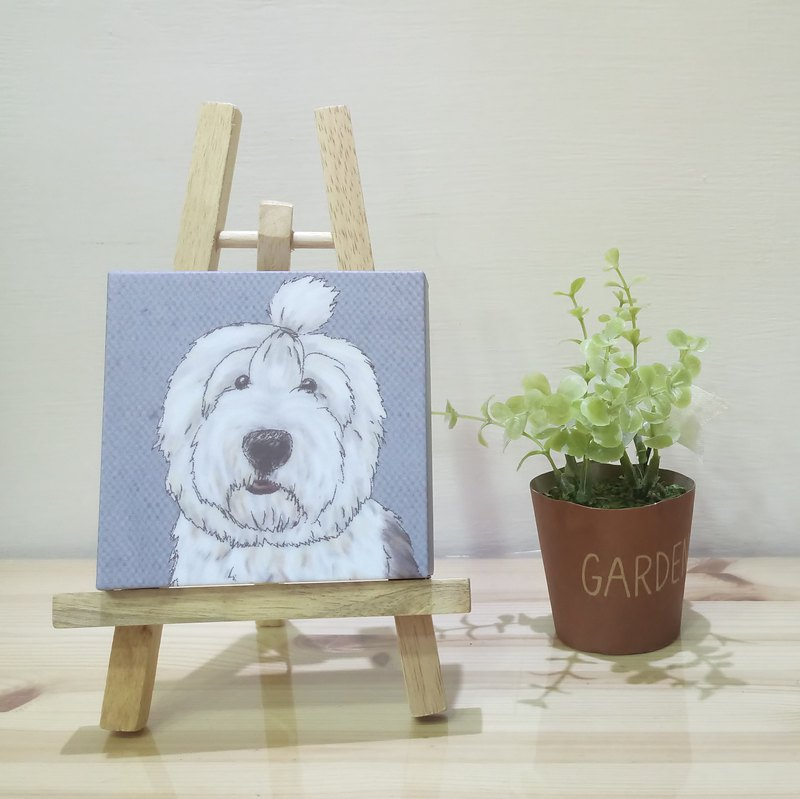 Small picture frame - lightweight frameless painting - English ancient shepherd