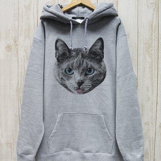 ronronCAT BIG HOODIE Beh (Heather Gray) / RBP 001-GR