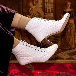 ITA BOTTEGA [Made in Italy] woven ankle boots