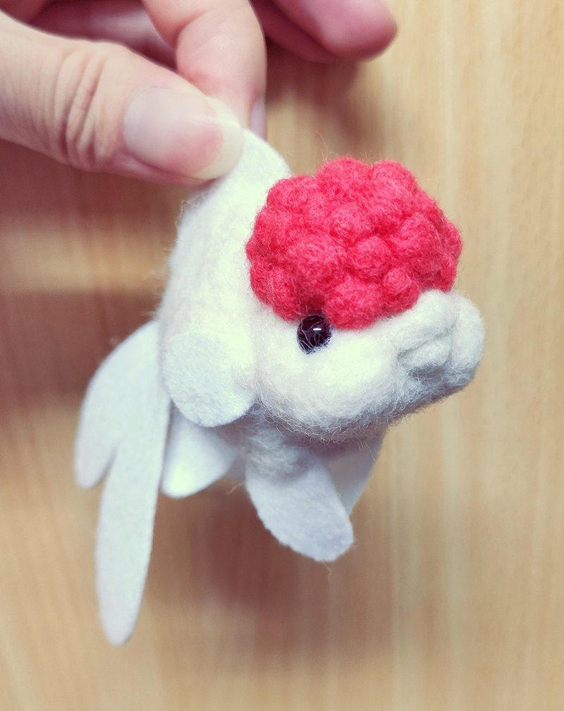 goldfish -Wool felt (key ring or Decoration)