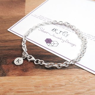 Small round series wide version circle round bracelet bracelet male size 925 sterling silver custom lettering bracelet