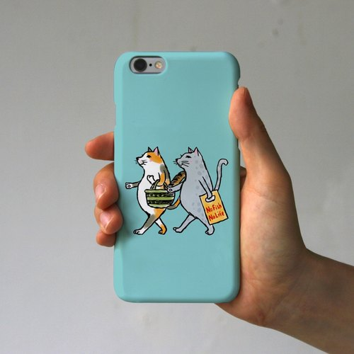iPhone Case Cats (mint)
