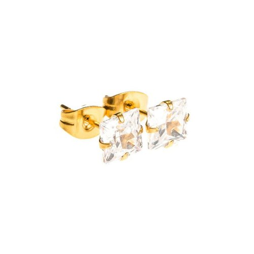 MISTER SQUARE STUD Earrings Set - Gold