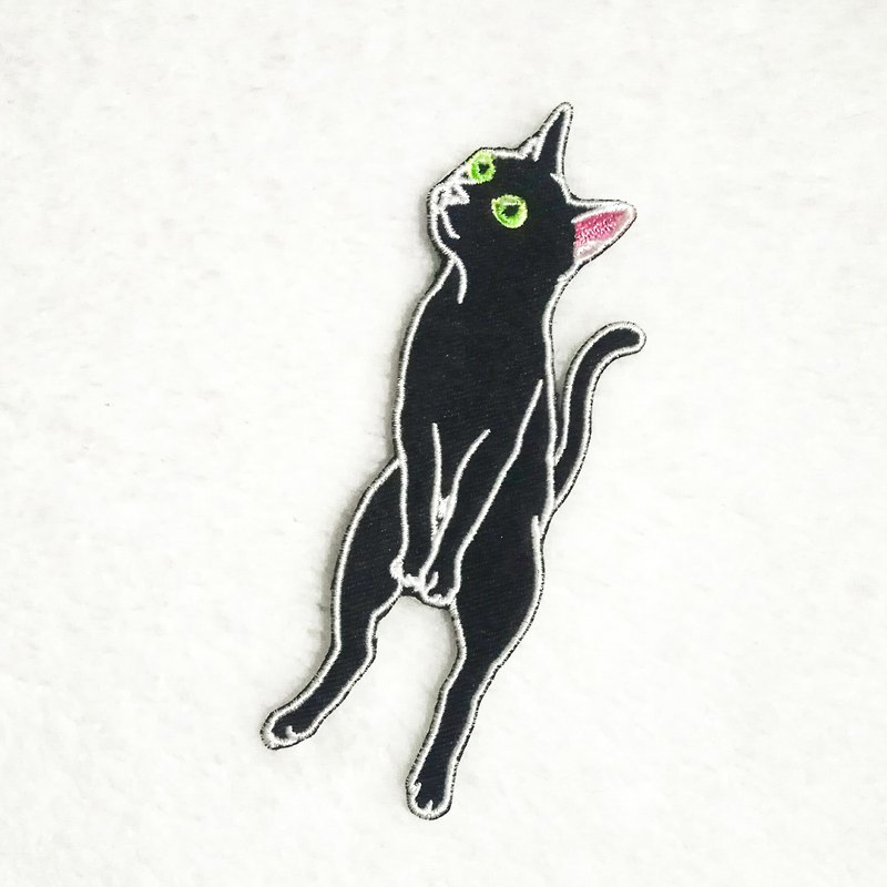 | Accompanying the cat to accompany you | Self-adhesive embroidered cloth stickers | Cat DIY