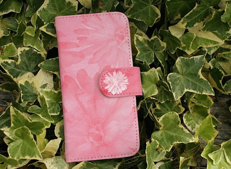 [All models corresponding Free Shipping ☆ [notebook type] Water Flower pink Sumahokesu