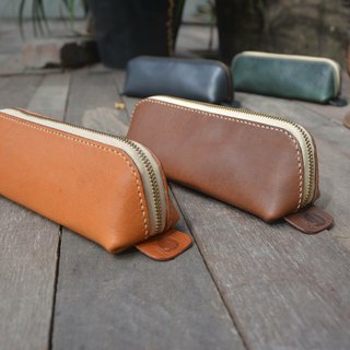 Simple pencil case / hand-made / leather / texture / Wenqing / design / pencil case / portable
