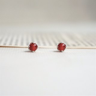 << July Birthstone - Red Agate Earrings>> Birthstone Ears BirthstAone