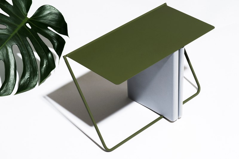 FlipUp / flip shelf - olive green bookshelf