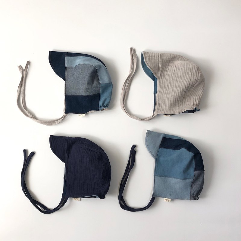 Piece piece into a dream blueprint | denim stitching double-sided strap visor duck tongue Baby hat
