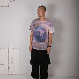 ALTERNATIVE TEXTURE × kei nakatani pattern print T-shirt