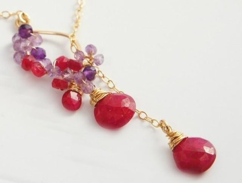 Ruby Rarietto necklace 14kgf