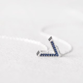 Sapphire V necklace Silver925