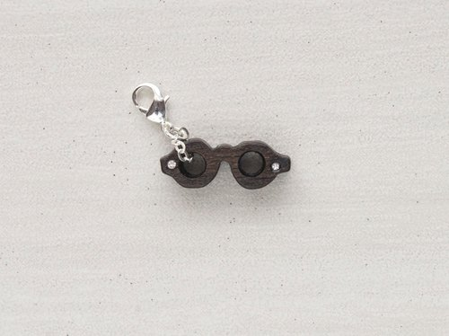 Glasses wooden charm (can choose gold / silver plated Lobster clasp)