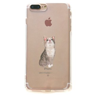 Tsundere cat - mobile phone case / anti-fall / air pressure shell / customizable handwriting + plus words