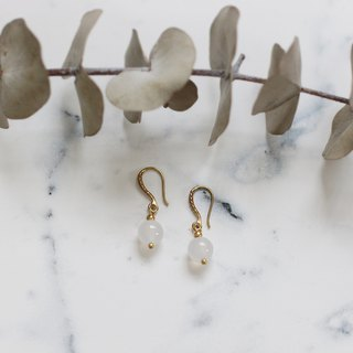 Classical Elegant White Onyx Earrings