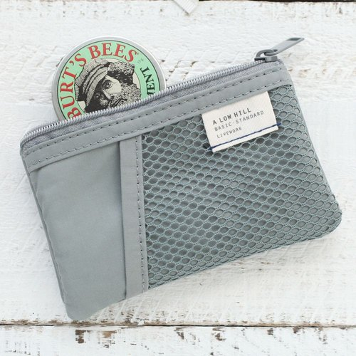 Livework casual style double ticket card purse - texture gray, LWK51561