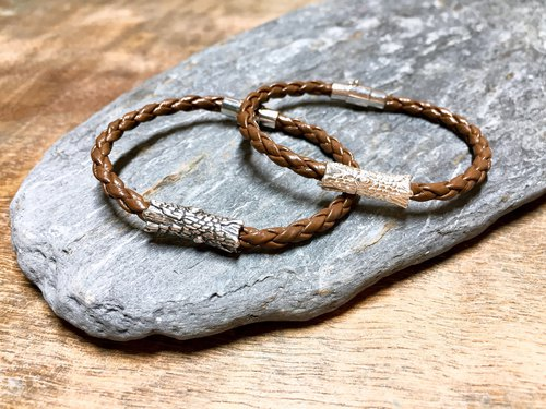 Chai Choi Leather Bracelet - Brown