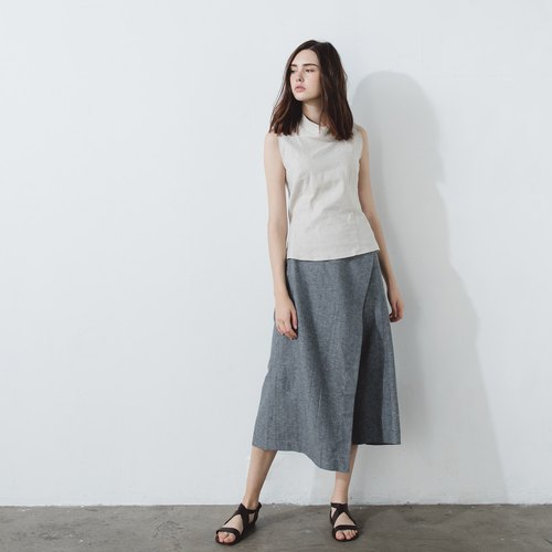 Handmade cotton low-cut trousers - Herringbone weave