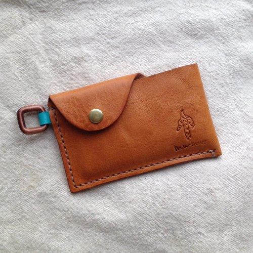 simple simple beauty swim card / business card folder _ handmade leather