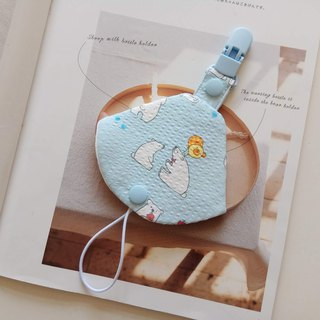 Polar bear dialogue two in one pacifier clip pacifier dust bag + pacifier clip dual function 1 into
