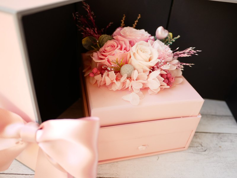 [Romantic eternal flower gift box] Drawer gift box flower box flower jewelry box confession Valentine's Day Valentine's Day