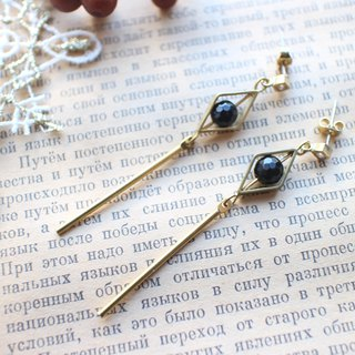 The black art-Black agate earrings