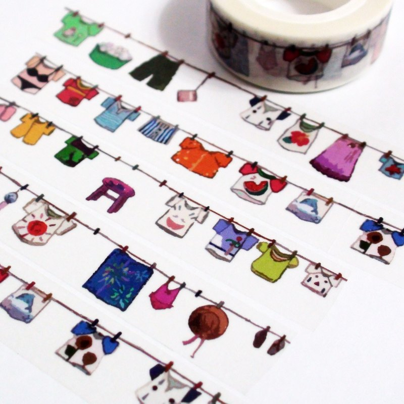 Sample Washi Tape Clothesline