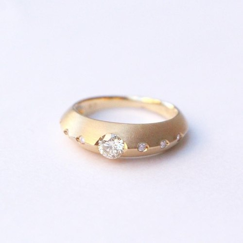 K18 diamond Moonlight ring (matting)