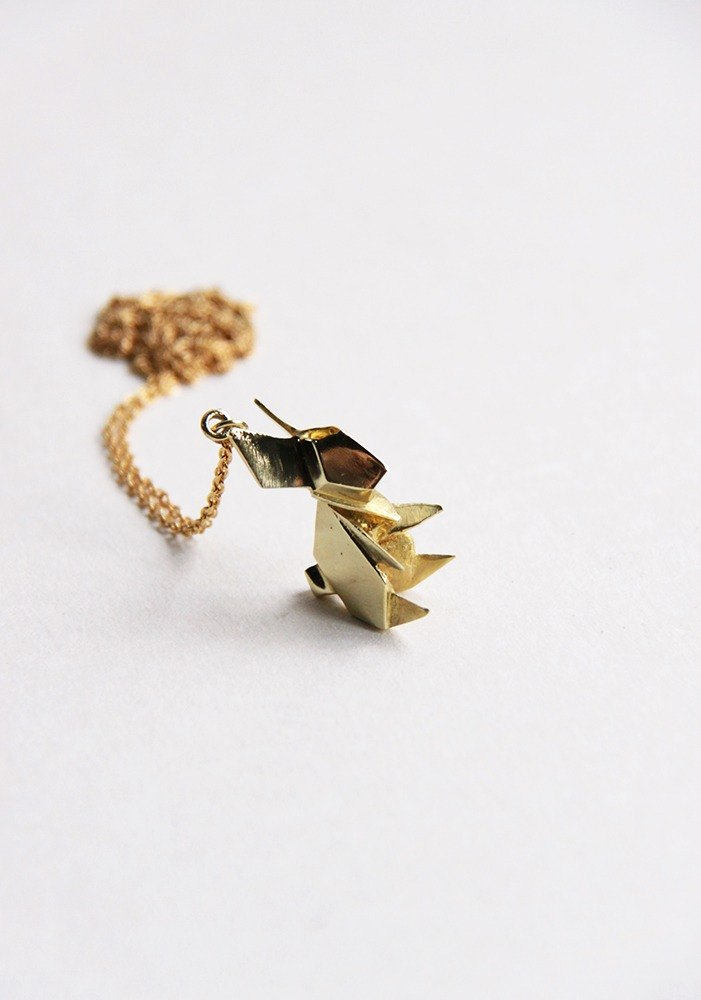 Rabbit Origami Charm Necklace