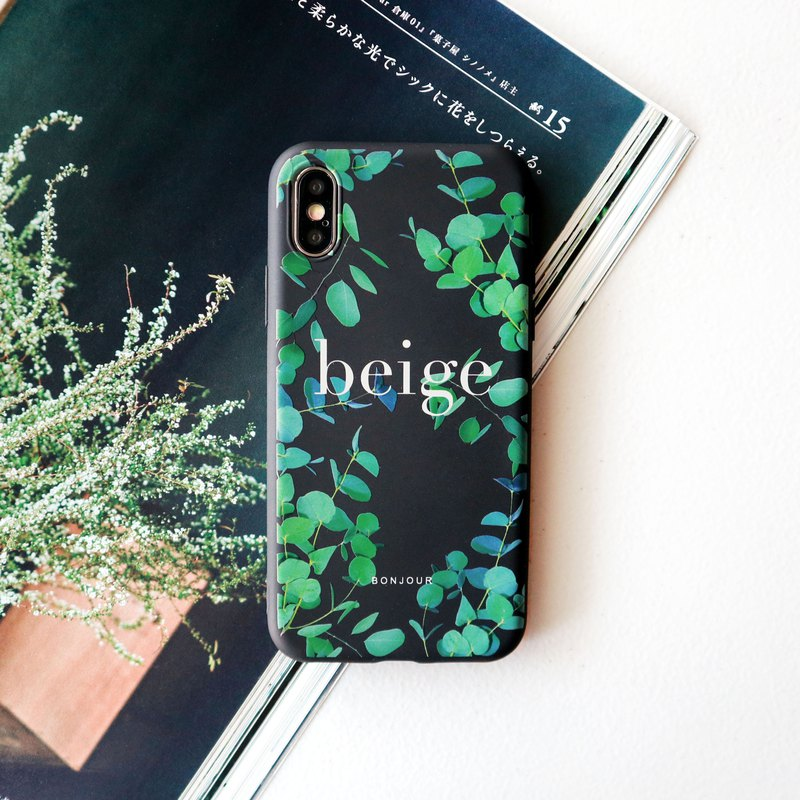 Late night eucalyptus leaf phone case