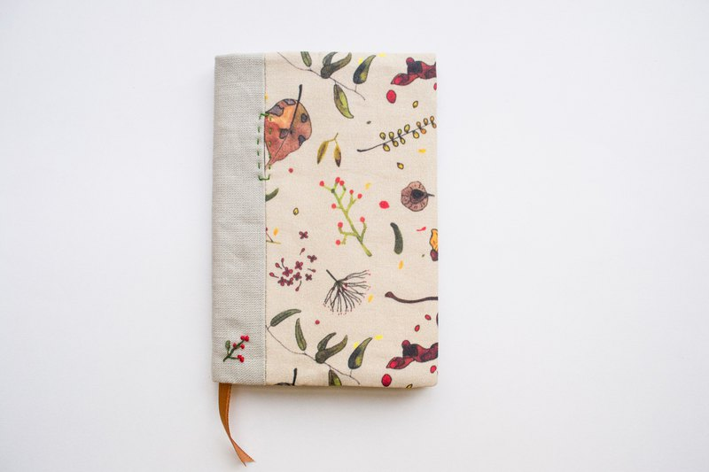 Jot of Ideas fabric A6 bookcover - Singapore Botanicals