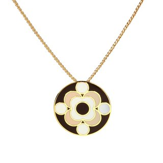 Louis de Broglie quantum filigree enamel necklace (gold) -18,209,151,108