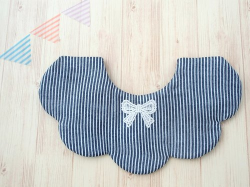 BABY BIB, 口水巾, Scalloped Bib, Reversible, Scalloped Bib, Japanese Bib, Baby Gift