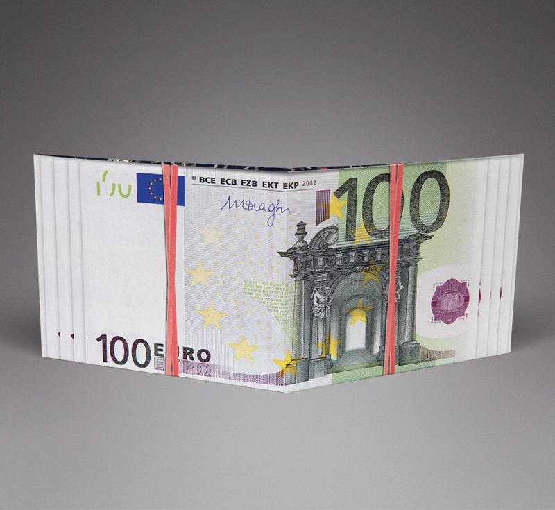 Euro Money Handmade Paper Wallet / Wallet / Short Clip Tyvek Waterproof Material Waterproof Tearproof