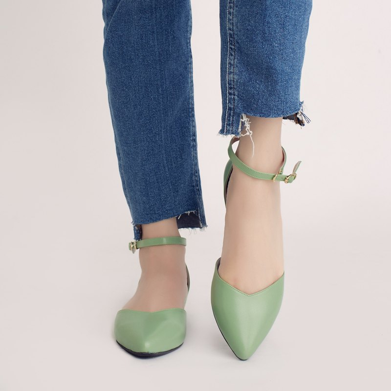Elegant everyday shoes! inverted V-shaped slim feet, lace-up shoes, cream, grass, full leather, MIT