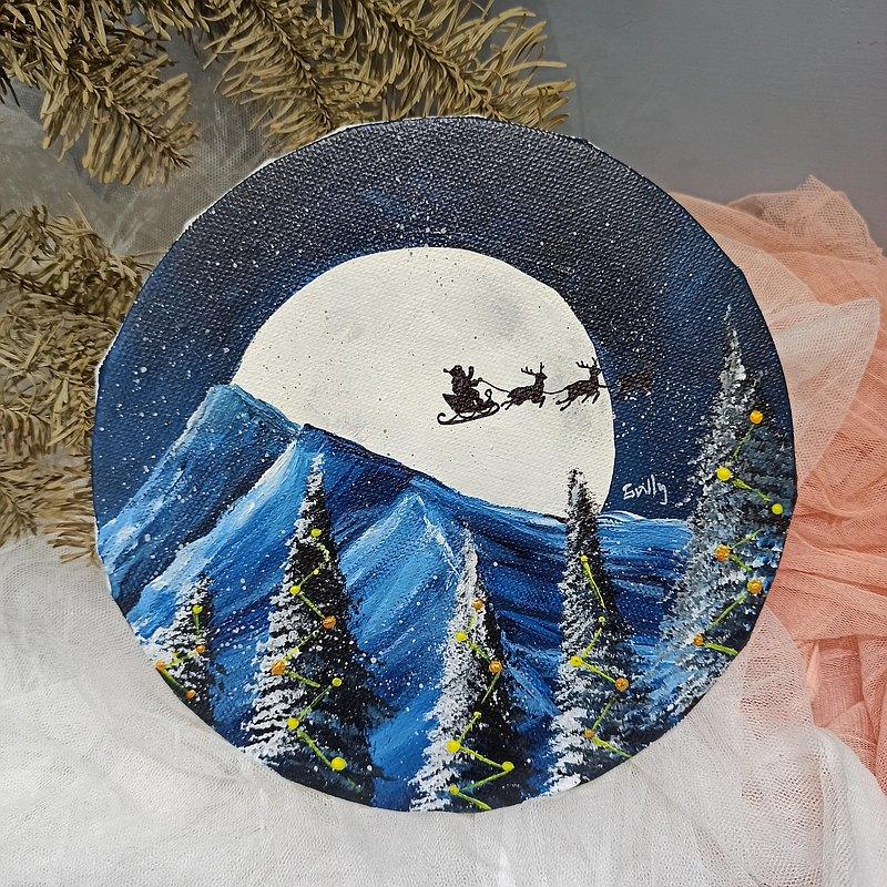 體驗油畫課-念冬的棉花 木棉 情人節 母親節 新年 禮物  珍惜